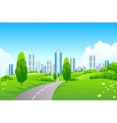 city park vector image