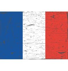 France flag grunge vector