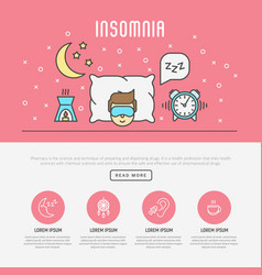 insomnia and sleep concept vector image