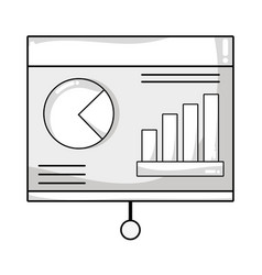Line statistic bars presentation business in the vector
