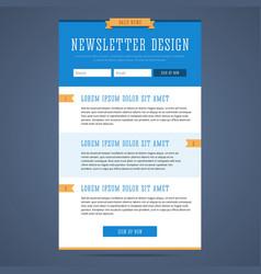 Newsletter page design vector image