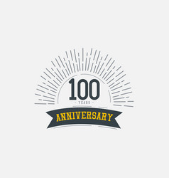 100 years anniversary celebrations template design vector