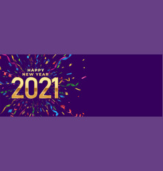 2021 celebration happy new year banner with vector