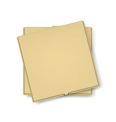 3d realistic blank brown craft paper pizza vector