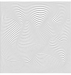 abstract background wave particles surface of vector image