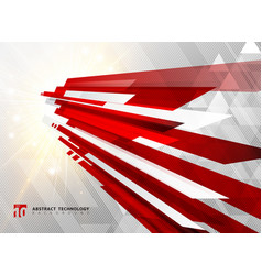 Abstract perspective technology geometric red vector