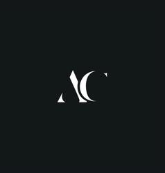 Ac initial logo design logo letter logo vector