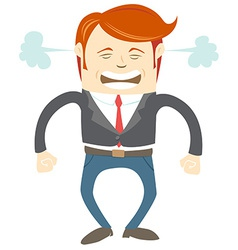 Angry office man vector image