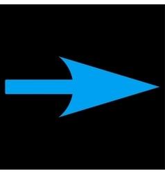 Arrow Axis X flat blue color icon vector