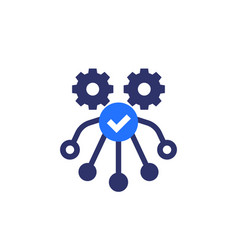 Automation and optimization icon on white vector