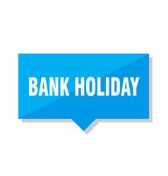 Bank holiday price tag vector