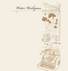 Banner on a writers theme with sketches and place vector