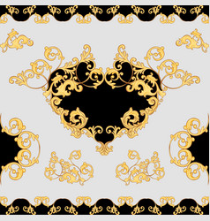 Baroque decorative element seamless pattern vector