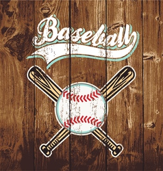 baseball wooden board vector image