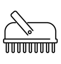 Bathroom brush icon outline bath shower vector
