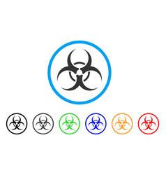 biohazard rounded icon vector image
