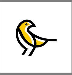 bird logo icon line outline monoline vector image