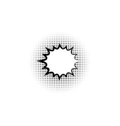 blank template comic text speech star burst vector image