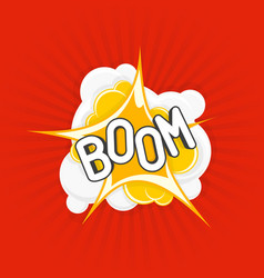 boom comic explosions vector image