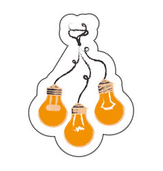 Bulbs light drawing icon vector