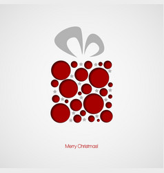 Christmas card with a gift vector