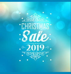 Christmas sale 2019 poster vector