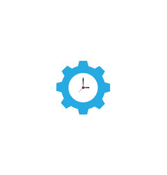 Clock time watch with gear logo design modern vector