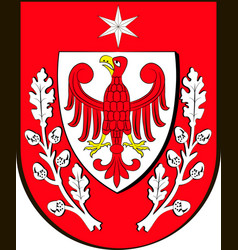 Coat of arms of teltow in brandenburg germany vector