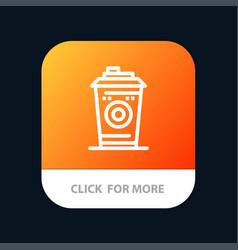 Coffee mug starbucks black coffee mobile app vector