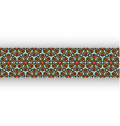 colorful islamic pattern graphic print arabic art vector image