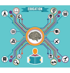 Concept of education and knowledge vector image