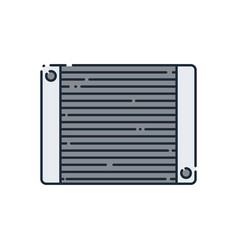 cooler flat icon vector image