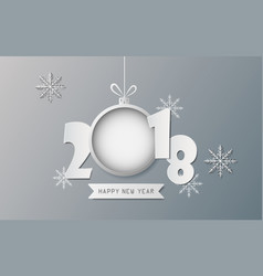 creative happy new year and christmas day design vector image