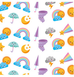 Cute and fantasy background vector