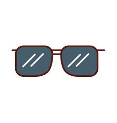 Cute grey sunglasses cartoon vector