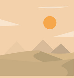 Desert landscape with pyramids vector