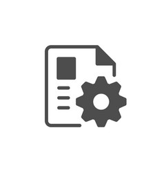 Document or file settings glyph icon vector