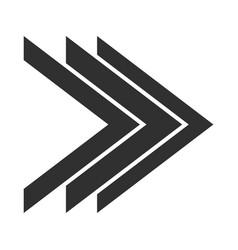 double right arrows direction forward button vector image