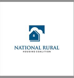 dream home logo design idea inspiration vector image
