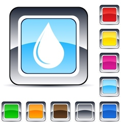 Drop square button vector image