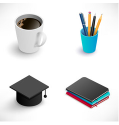 education icon small set vector image