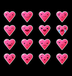 Emoticons heart gradient 10 vector