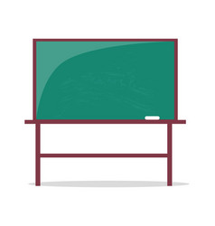 Empty blackboard with piece of chalk vector