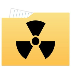 File folder with radiation sign vector image