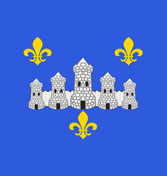 Flag of chateau-thierry in aisne vector