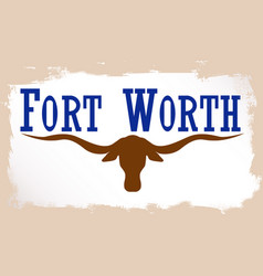 flag of fort worth vector image