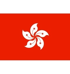 Flag of Hong Kong in correct proportion and colors vector