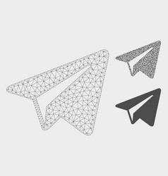 Freelance paper plane mesh 2d model and vector