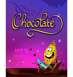funny chocolate design vector image