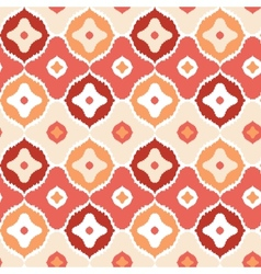 Golden ikat geometric seamless pattern background vector image